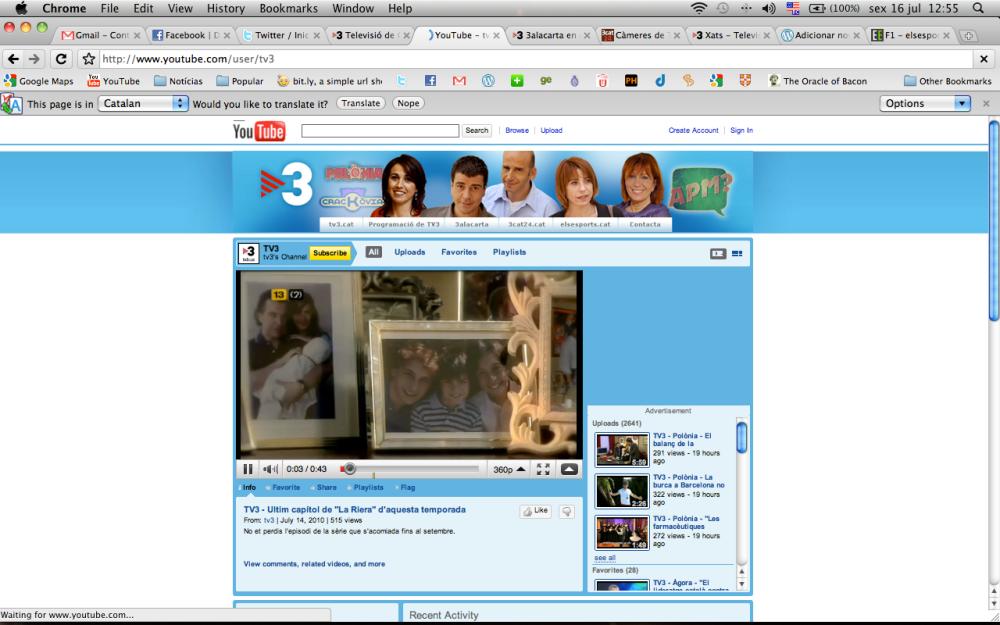 Canal no Youtube. A TV3 vai onde está a audiência