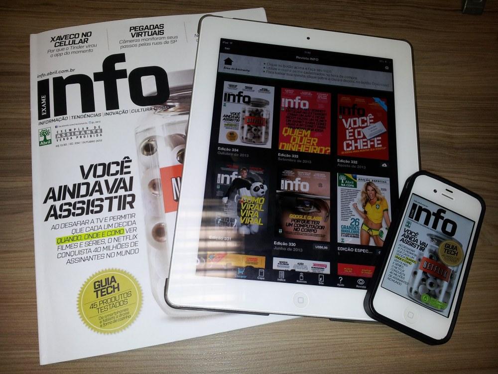 Revista Info é capaz de interação contínua com as novas telas. E faz isso com inteligência